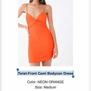 Forever 21 Twist-Front Cami Bodycon Dress